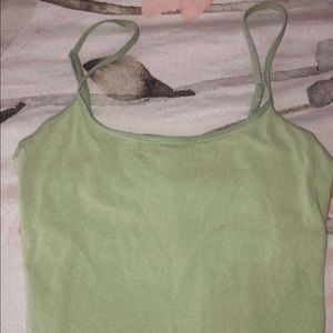 Tops - Thrifted Ligjt Green Crop Top size M